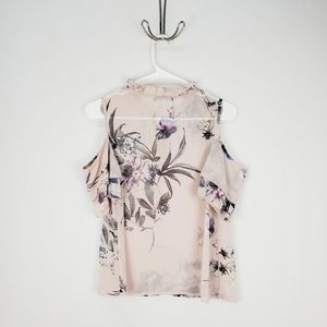 One By One Tops - ONE BY ONE | floral cold shoulder top